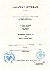 Osvědčení o odborné způsobilosoti PO - Ing. Michal Klimša